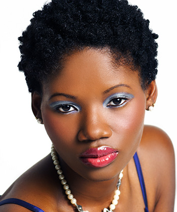 Embellish short natural hair / TWA with a hair clip